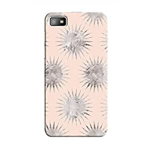 Cover It Up - Silver Pink Star BlackBerry Z10 Hard Case