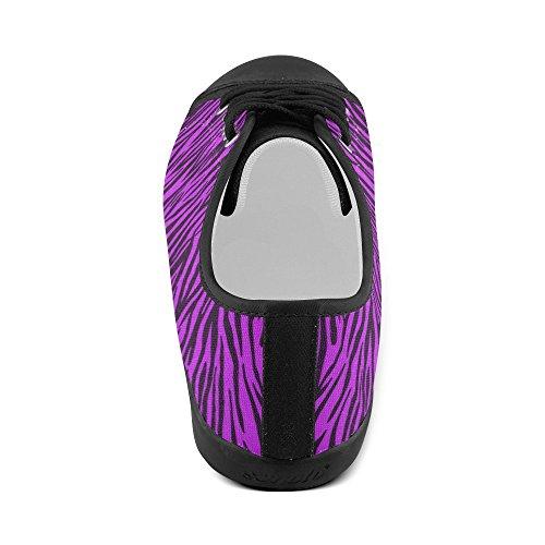 D-story Scarpe Zebra Personalizzate Viola Zebrato Da Donna (modello 016)