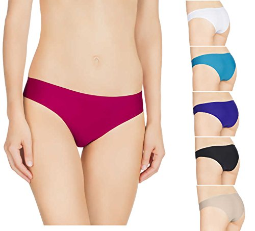 Nabtos Colorful Seamless invisible Bikini Underwear Panties (Pack of 3 or 6) (Large/7, All 6 colors)