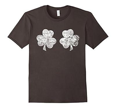 Irish White Shamrock Boobs Funny St. Paddy's Day T-shirt