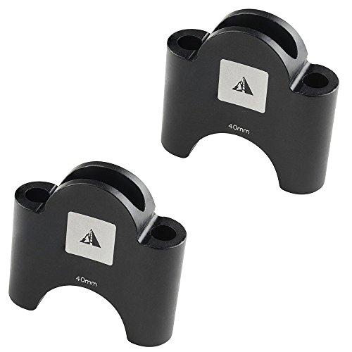 Profile Designs Aerobar Bracket Riser Kit Black, 40mm from Profile Designs