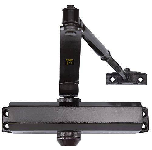 Medium Duty Designer Commercial Door Closer - LYNN Hardware DC6003 (US10B Dark Bronze) Surface Mounted, Cast Aluminum - UL 3 Hour Fire Rated, Size 3 for Residential and Light Commercial Doors