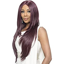 Vivica A Fox Hair Collection Jamie Deep Swiss Lace Front Wig Invisible Lace Part, 1, 12.3 Ounce