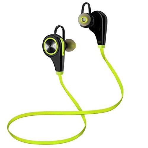 Bluetooth Kopfhörer - Kasos Wireless Headset Kabellose Ohrhörer für Sport, Unterwegs, Grün