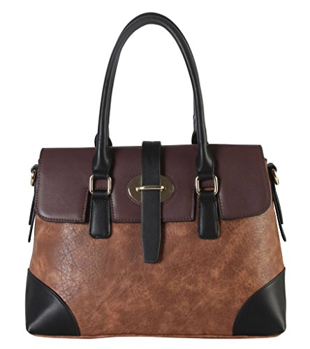 diophy-pu-leather-two-tone-birkin-style-tote-accented-with-buckle-decor-womens-purse-handbag-ab-011