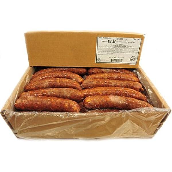 Smoked Elk Jalapeno Cheddar Bratwurst Sausage Frozen 4 Oz Links 10 Case Amazon Com Grocery Gourmet Food