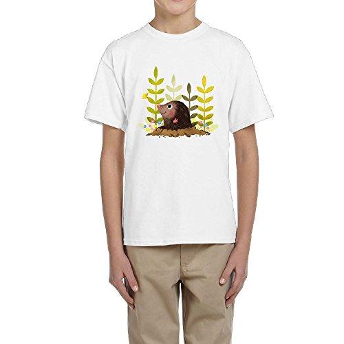 Shenigon Cute Mole Teens T-Shirt, School Graphic Print Tee Shirts Top for Teenager Boys & Girls