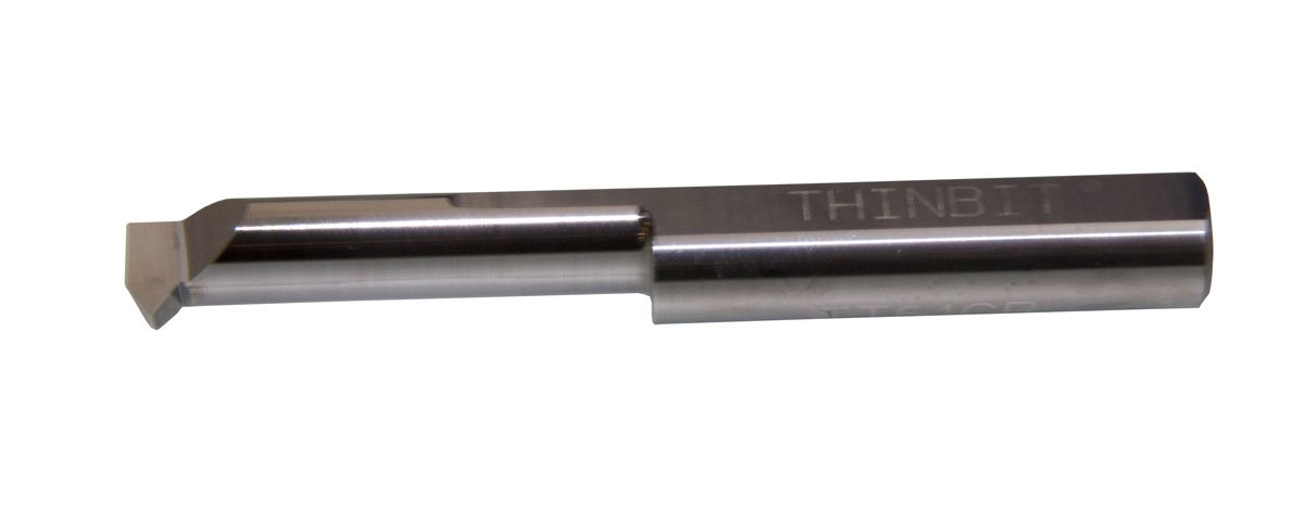 Heavy Duty Elliptical Neck and 3//8 Shank 0.375 Minimum bore 1.346 Reach THINBIT TT61CR1 Uncoated Solid Carbide Threading Tool Greater Than 56 Threads per inch