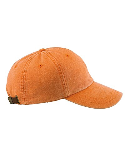 Adams 6-Panel Low-Profile Washed Pigment-Dyed Cap, Terra Cotta, OS ()