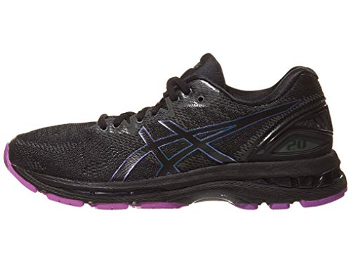 ASICS Womens Gel-Nimbus 20 Lite-Show Running Shoes, Black/Black, Size 8.5