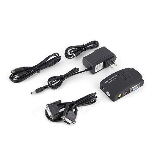 ideo AV in to PC VGA LCD Out Converter Adapter Box US ()
