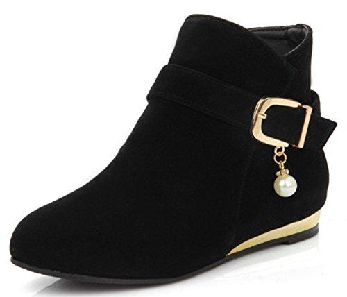 IDIFU Women's Sweet Sweet Sweet Pendant Buckle Faux Suede Side Zipper Short Ankle Boots Low Heels B01M0B92ZW Shoes 12d98c