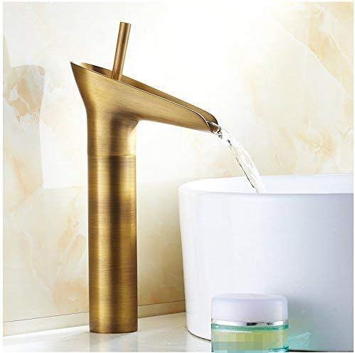 浴室の熱く、冷たい混合機の単一の穴の単一のハンドルのHighProfileの銅の流しの蛇口