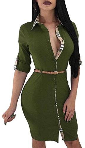 Sexy 2 Sleeve Roll Bodycon Work Dresses Women Jaycargogo V Neck Up Unqg7Zw5