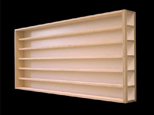 Dimensioni 60 x 58 x 8,5 cm vetrinetta con scanalature per modellismo scala H0 e N in legno di betulla con 2 vetri di plexiglas espositore Alsino Vetrina V22a collezionismo bacheca