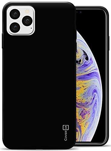 CoverON Extra Slim Fit TPU Rubber FlexGuard Series for iPhone 11 Pro Max Case (2019), Black