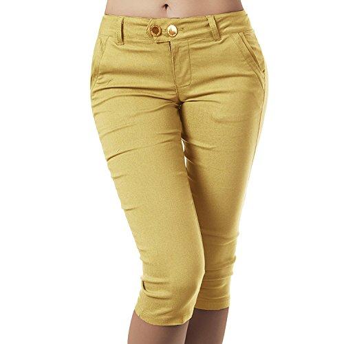 Basique Kaki Xl Moulant Crayon Capri Pantalon Doux Couleur Toogoo Femmes Unie Calecon De af4nxPqY7