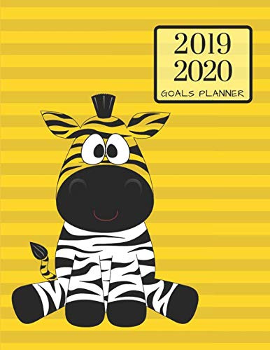 2019 2020 Safari Zebra 15 Months Daily Planner: Academic Hourly Organizer In 15 Minute Interval; Appointment Calendar With Address Book & Note Section; Monthly & Weekly Goals Journal With Quotes