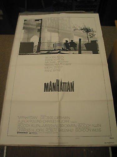 MANHATTAN /ORIG. U.S. ONE SHEET MOVIE POSTER B (WOODY ALLEN/DIANE - Manhattan Store
