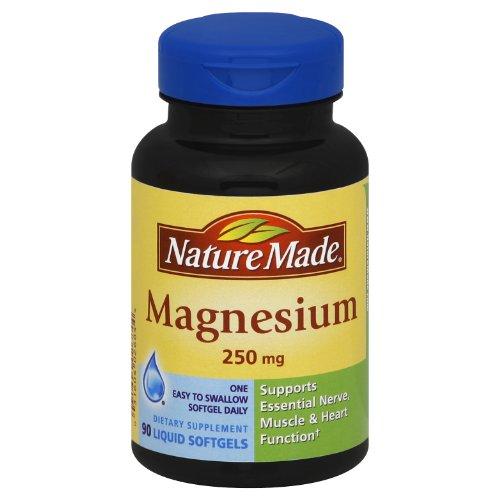 Природа Сделано Магний 250 мг Softgel, 90 граф