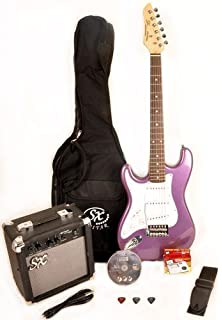 SX RST 3/4 MPP Left Handed Short Scale Purple Guitar Package with Amp,