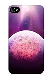 Diy Yourself Awesome Purple Light Above The Planet Flip case cover With Fashion Design aKIkWuq8POw For iPhone 6 4.7 As New Year's Day's Gift