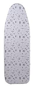 Bügelbrettbezug 100% Baumwolle (Grau, 148 x 52 cm)