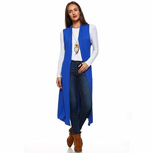 (Isaac Liev Women's Sleeveless Lightweight Duster Vest (Medium, Royal))