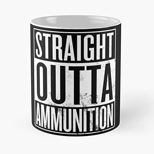Straight Outta Ammunition Rts Shooters - Best Gift Ceramic Coffee Mugs 11 Oz