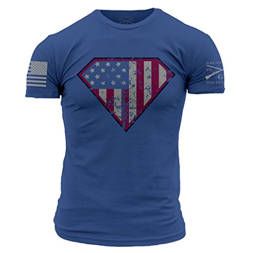 Grunt Style Super Patriot Men's T-Shirt, Color Royal Blue, Size X-Large by Grunt Style