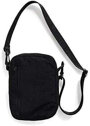 BAGGU Sport Crossbody Bag, Functional Nylon Bag, One Size Black
