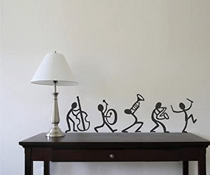 Creative width enjoy with band wall sticker decal