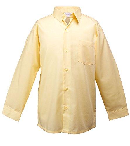 Spring Notion Big Boys' Long Sleeve Dress Shirt 7 Yellow