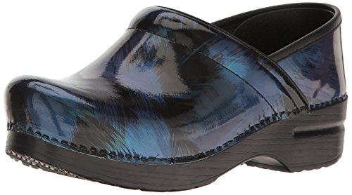 Dansko Womens Professional Mule Blue Shadow Patent