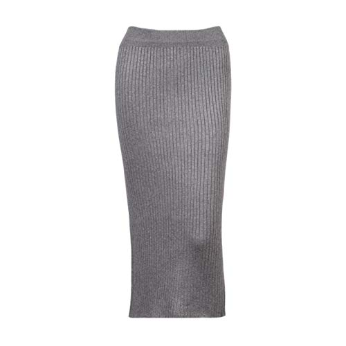 - fYBrQf Women Casual Chic Pencil Skirt Wool Rib Knit Dress