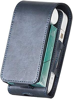Bolso de la caja del cigarrillo, para el estuche protector electrónico de la funda protectora de la PU del cigarrillo de iQOS Bolsa de la cubierta de la bolsa-La marina: Amazon.es: Salud