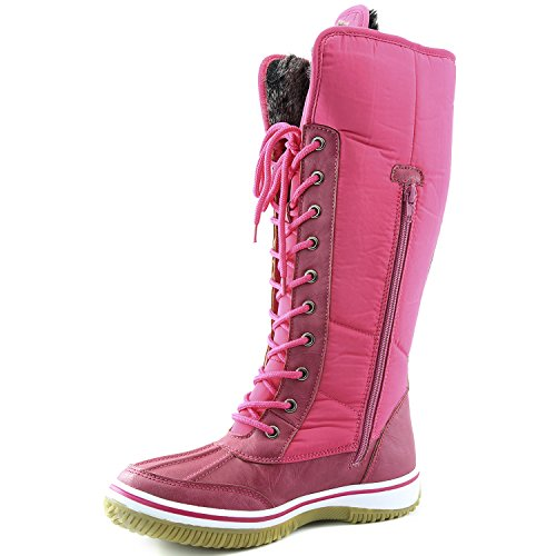 Boots D'Cor High Tone Pink Water Snow Zipper up DailyShoes 2 Fur Warm Knee Resistant Eskimo Women's Cowboy wqYFxRxBZ