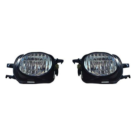 Mercedes Benz C Coupe/Sedan 2001-2007/Wagon 2002-2005/CL 2000-2002/SLK 2002-2004 Foglight Assembly w/AMG Styling Package,Sport Package Pair Driver and Passenger Side MB2592115, MB2593116 (2006 Mercedes Benz C230 Sedan)