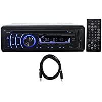 Boss BV6652 In Dash Car DVD/MP3 Player Receiver AM/FM Radio w/USB/SD+AUX Cable