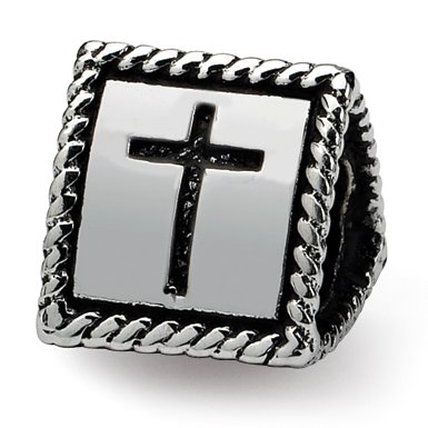 Hope Sterling Silver Reflection Faith Love Trilogy Bead
