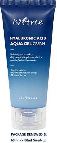 ISNTREE Hyaluronic Acid Aqua Gel Cream 2.71 fl.oz. (80ml) Night Cream, Day Cream, Deep Moisturizing, Skin Protection, Sebum Control, Smoothing |