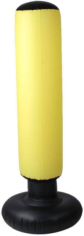 Saco Hinchable PVC 160 cm Fitness HIIT Sandbag Adultos Ni/ños Saco Hinchable Columna Amarillo