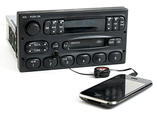 Mercury 95-97 Grand Marquis M100 Radio AM FM Cassette w Aux Input F5AF-19B132-AC
