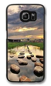 City bridge Polycarbonate Hard Case Cover for Samsung S6/Samsung Galaxy S6 Black