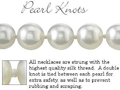 7.0/mm Blanc Perle Akoya Collier et boucles doreilles assorties 6.5 45,7/cm/ Longueur Princesse /QUALIT/É AA