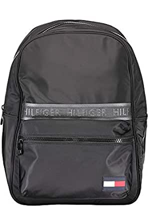 Tommy Hilfiger Men's Sport Logo Tape Backpack, Black, One Size
