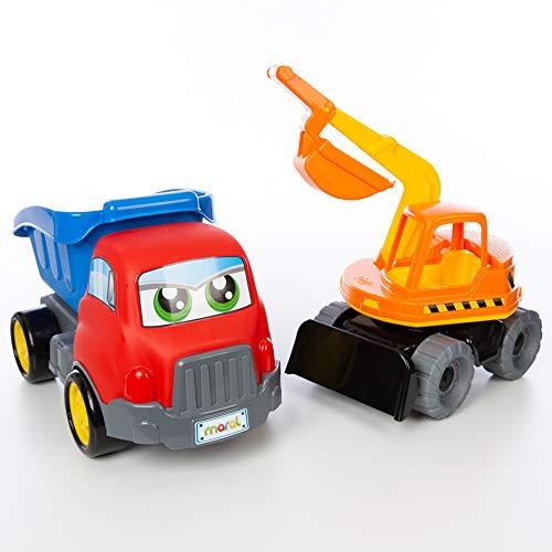 Turbo Truck e Retro - Kit Caçamba e Retroescavadeira - Caixa, Maral, Multicolor