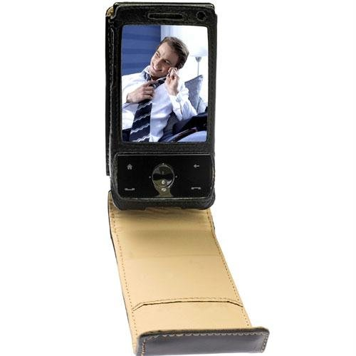 Krusell Orbit Flex Multidapt Leather Case with Ratchet SwivelClip for HTC P3700 Diamond - Black