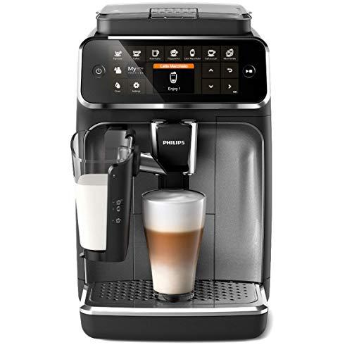 Philips EP4346/70 Serie 4300 Cafetera superautomática, 8 variedades de café, Sistema LatteGo, Molinillo cerámico…