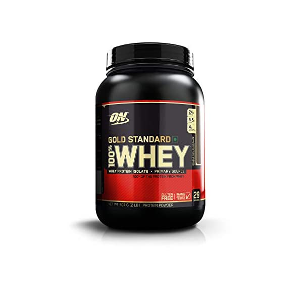 Optimum Nutrition (ON) Gold Standard 100% Whey Protein Powder - 2 lbs, 907 g (Double Rich Chocolate) 2